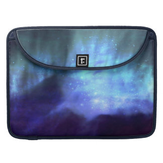 Blue stars in space sleeve for MacBooks