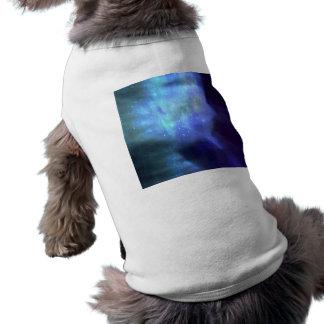 Blue stars in space sleeveless dog shirt