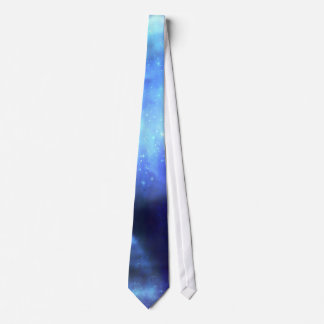Blue stars in space tie