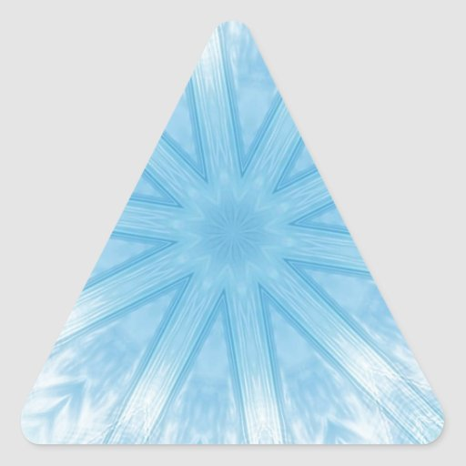 Blue stars in the frost triangle sticker