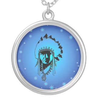 Blue Stars indian Chief Necklace