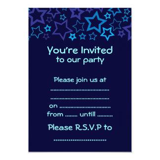 """Blue Stars 5"""" X 7"""" Invitation Card"""