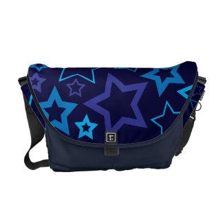 Blue Stars Courier Bag