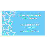 blue stars pack of standard business cards