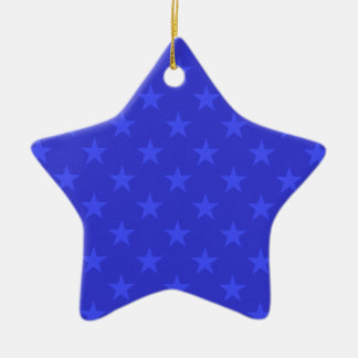 Blue stars pattern christmas ornament