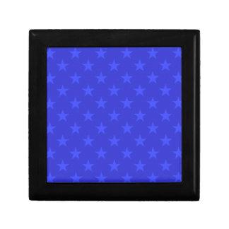 Blue stars pattern gift box
