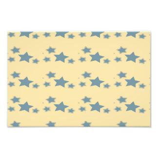 Blue stars pattern photo