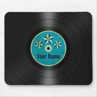 Blue Stars Personalized Vinyl Record Album Mouse Pad