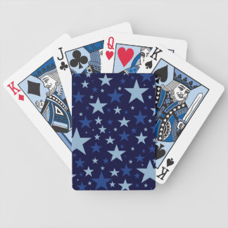 Blue Stars playing cards