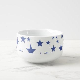 Blue Stars Soup Mug