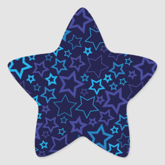 Blue Stars Star Sticker