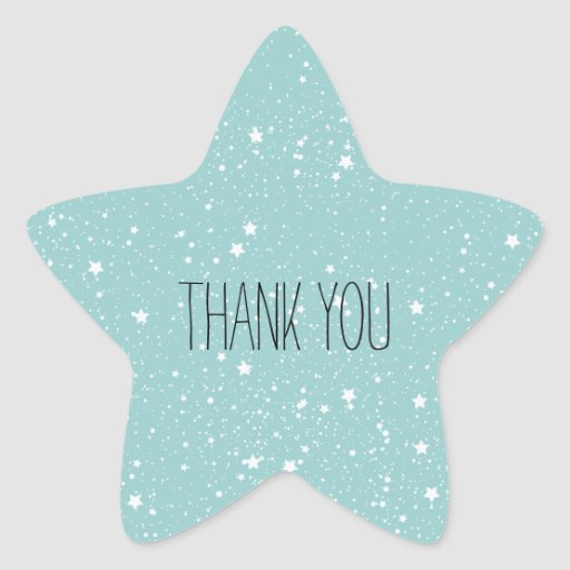 Blue Stars thank you Stickers