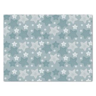 Blue Stars Tissue Paper