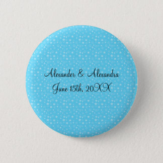 Blue stars wedding favors 6 cm round badge
