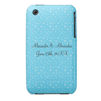 Blue stars wedding favors iPhone 3 cases