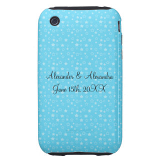 Blue stars wedding favors iPhone 3 tough covers