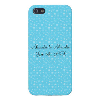 Blue stars wedding favors cover for iPhone 5