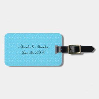 Blue stars wedding favors luggage tag