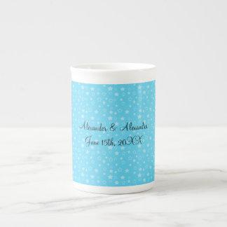 Blue stars wedding favors porcelain mug