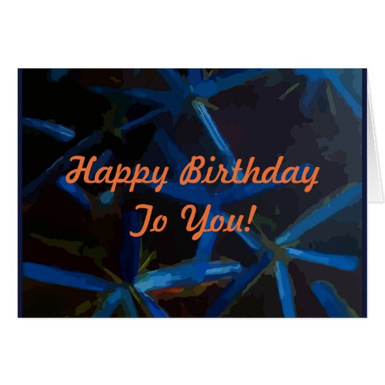 Blue Stars With Happy Birthday Wishes Card
