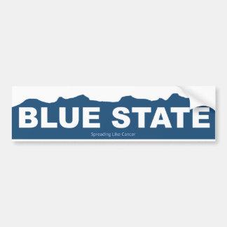 Blue State Bumper Sticker