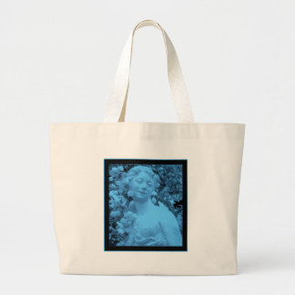 Blue Statue abstract photo Jumbo Tote Bag