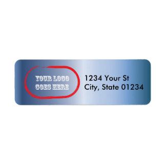 Blue Steel Custom Logo Return Address Labels