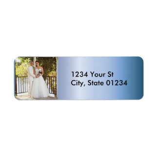 Blue Steel Custom Photo Return Address Labels