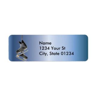 Blue Steel Hockey Skates Return Address Labels