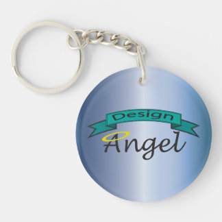 Blue Steel Logo Branded Single Sided Key chain