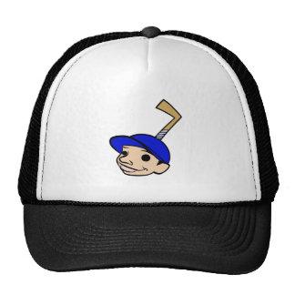 Blue Stick Head Boy Mesh Hats