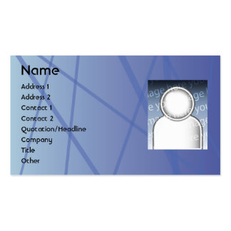 Blue Sticks - Business Pack Of Standard Business Cards