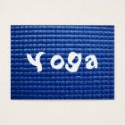 Blue Sticky Yoga Mat & Wood Floor Business Card