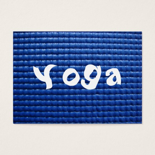 Blue Sticky Yoga Mat & Wood Floor Business