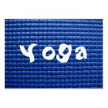 Blue Sticky Yoga Mat & Wood Floor Business Cards