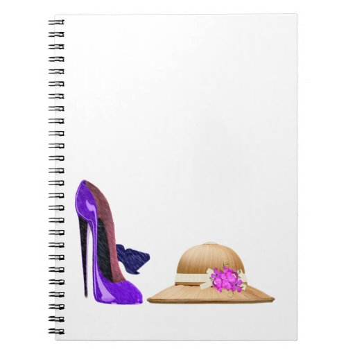 Blue Stiletto Shoes and Hat Art Notebooks