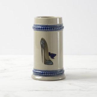 Blue Stiletto Shoes Art Beer Stein