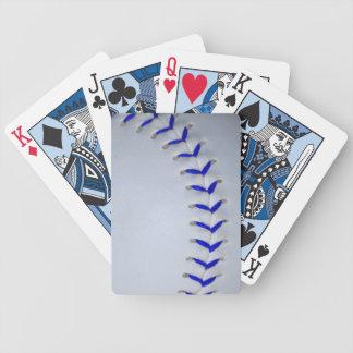 Blue Stitches Baseball / Softball Bicycle Playing Cards