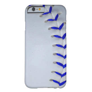 Blue Stitches Baseball / Softball Barely There iPhone 6 Case