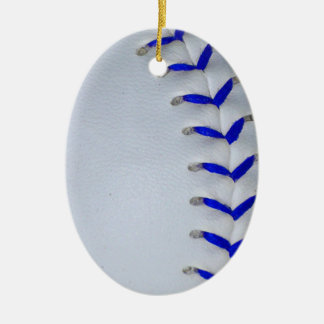 Blue Stitches Baseball / Softball Christmas Ornament