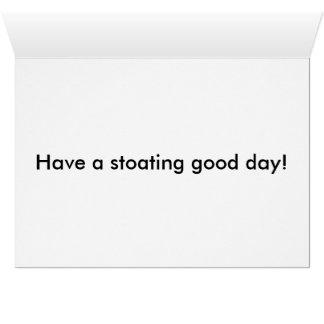 Blue Stoat Birthday Card