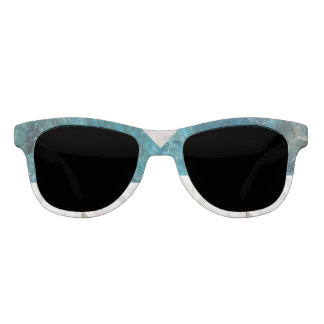 Blue Stone and White Marble Parquet Sunglasses