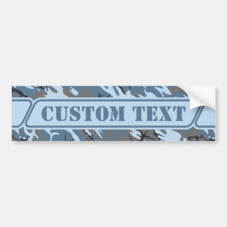 Blue Stone Camo Bumper Sticker