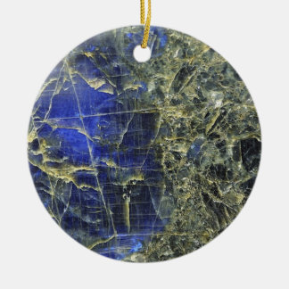 Blue Stone Christmas Ornament