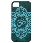 Blue Stone Floral Om iPhone 5 Case