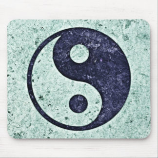 Blue Stone Yin Yang Mouse Mat