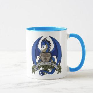 Blue Stonefire Dragon Crest Mug