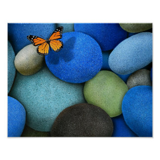 Blue stones poster