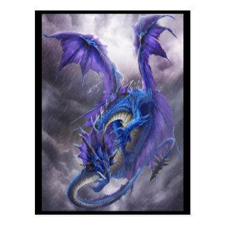 Blue Storm Dragon Post Card