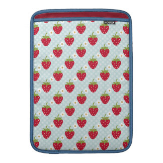 Blue Strawberry Macbook Air Sleeve 13 / 11 Inch